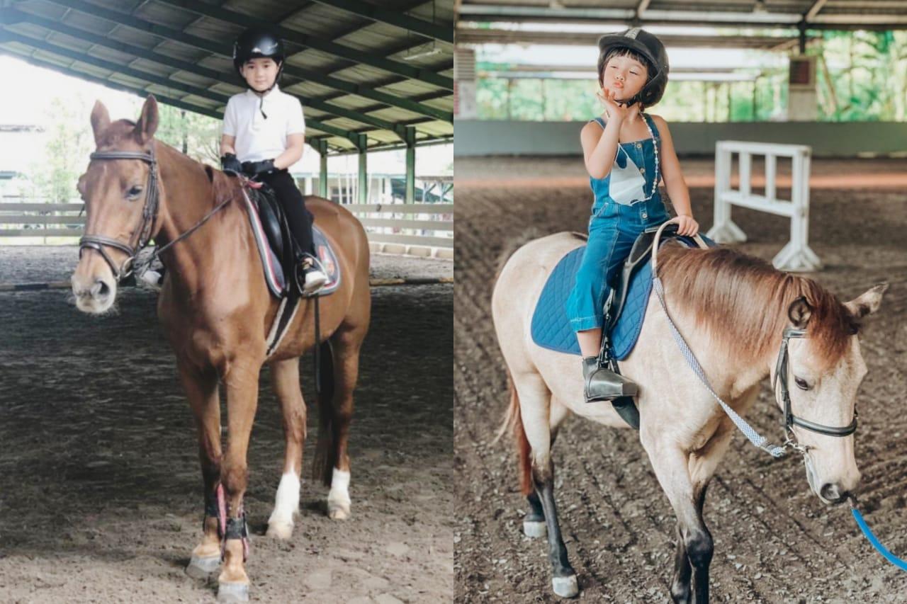 Intip Potret Aksi Anak-anak Selebriti yang Hobi Berkuda
