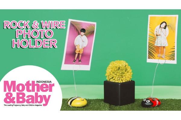 DIY Rock & Wire Photo Holder